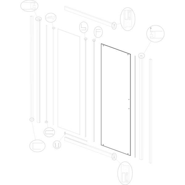 szyba drzwiowa Optimo D 120 ML