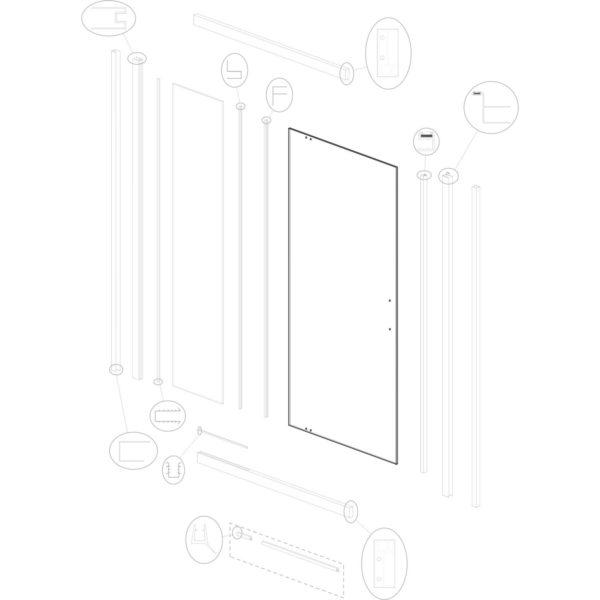 szyba drzwiowa Optimo D3 ML