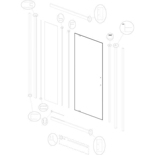 szyba drzwiowa Optimo D3 TR