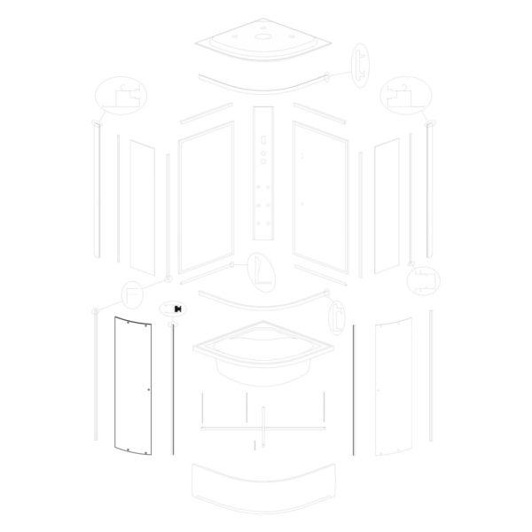 Szyba drzwiowa Vigo 80