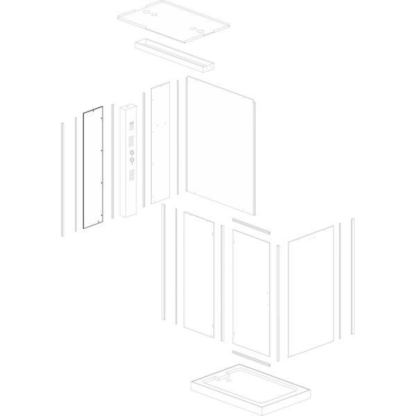 Szyba panelu lewa Spa/Twin L