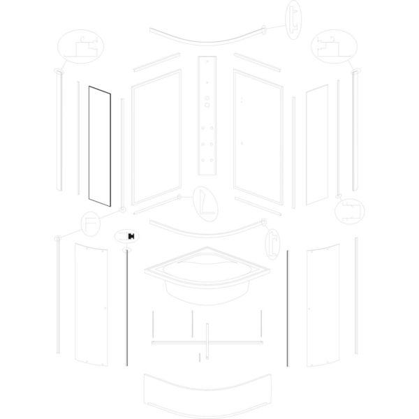 szyba przednia stała IVO/Presto 90