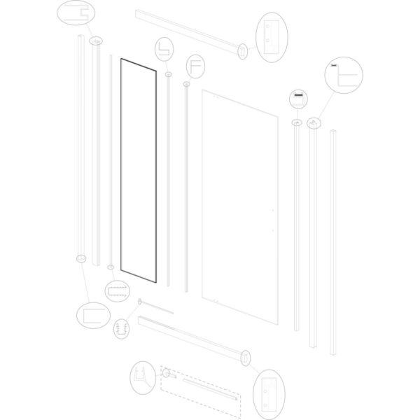 szyba stała Optimo D3 140 ML