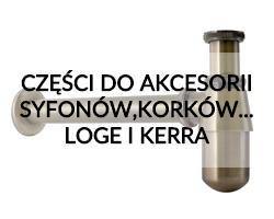Części zamienne do akcesoriów syfonów, korków, zaworów Loge i Kerra