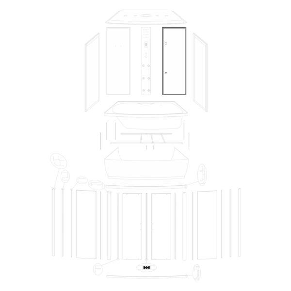 Ścianka tylna prawa Mocca 150