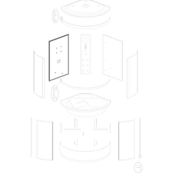 """ścianka tylna lewa do kabiny hydromasażowej Kerra """"P 135"""""""