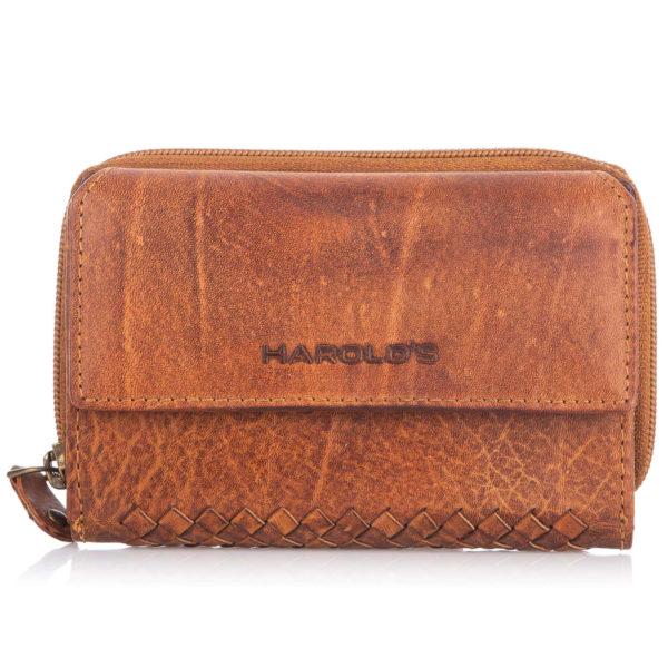 duży portfel skórzany vintage Harold's