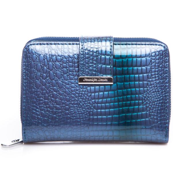 niebieski średni portfel damski Jennifer Jones