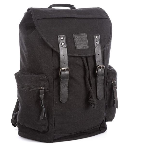 Plecak czarny w stylu vintage