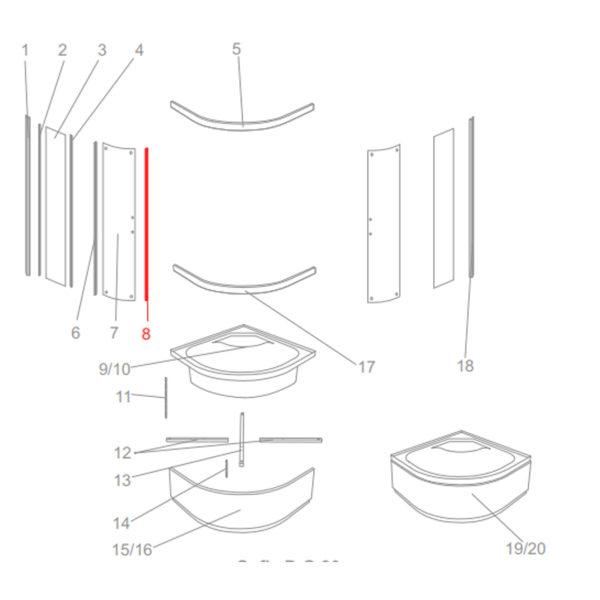 uszczelka magnetyczna Kerra sofia d
